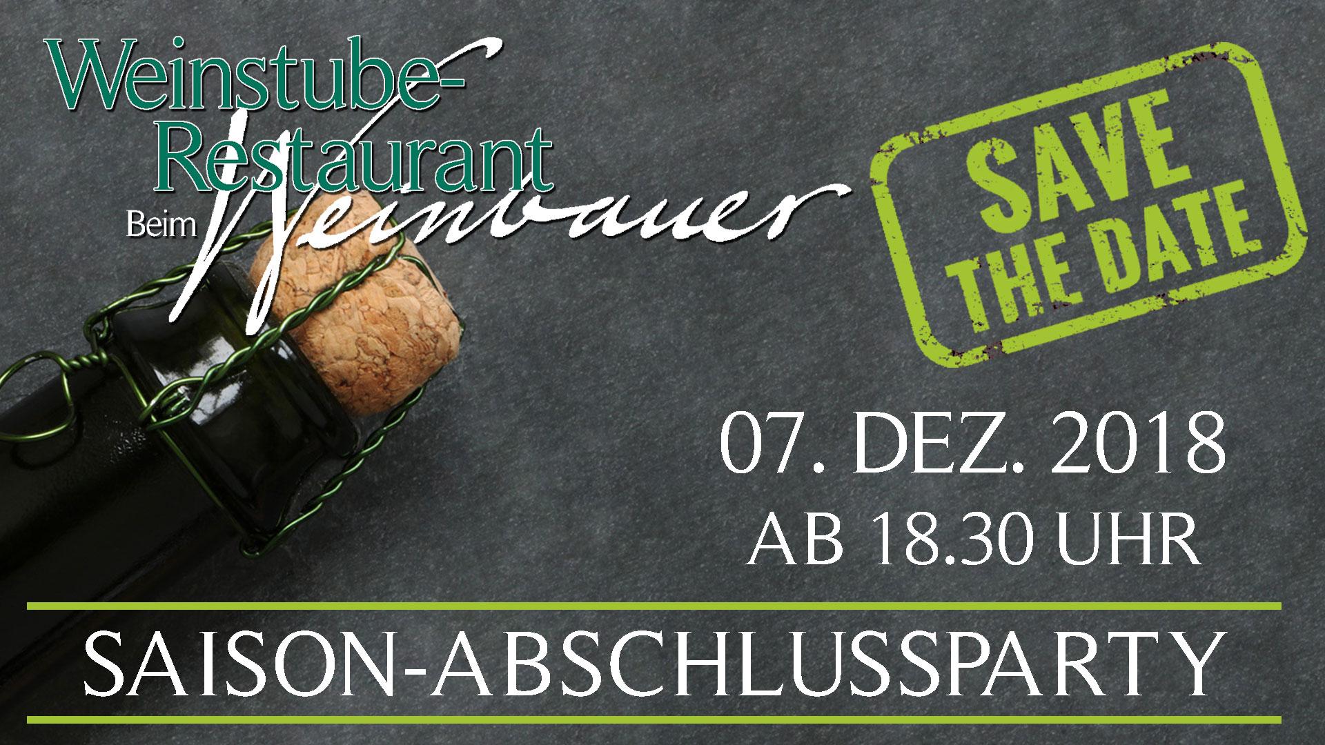 Saison-Abschlussparty Beim Weinbauer